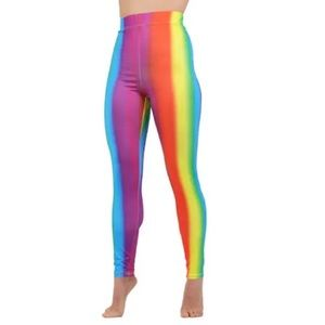 Woman's Rainbow Pride High Waist Leggings